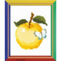 Riolis counted cross stitch Kit Apple, DIY