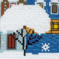 Riolis counted cross stitch Kit Christmas City, DIY