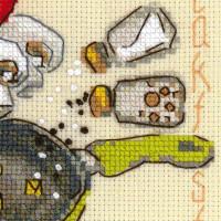 Riolis counted cross stitch Kit Breakfast, DIY