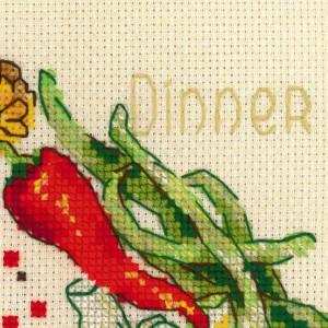 Riolis counted cross stitch Kit Dinner, DIY