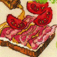 Riolis counted cross stitch Kit Lunch, DIY