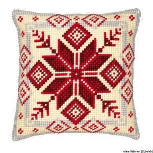 Vervaco stamped cross stitch kit cushion Nordic...