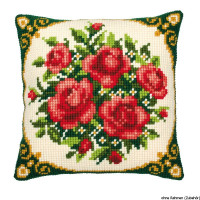 Vervaco stamped cross stitch kit cushion Flowers, DIY