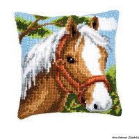 Vervaco stamped cross stitch kit cushion Horse, DIY