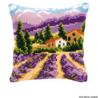 Vervaco stamped cross stitch kit cushion Provence, DIY