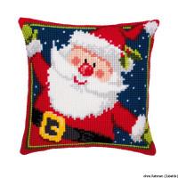 Vervaco stamped cross stitch kit cushion Father Christmas, DIY