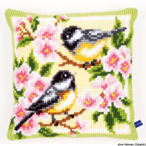 Vervaco stamped cross stitch kit cushion Birds and...