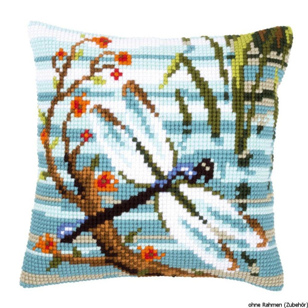 Vervaco stamped cross stitch kit cushion Dragonfly, DIY