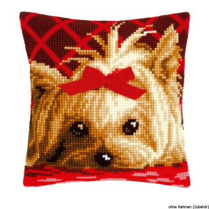 Vervaco stamped cross stitch kit cushion Yorkshire with...