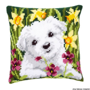 Vervaco stamped cross stitch kit cushion Westie in...
