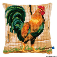 Vervaco stamped cross stitch kit cushion Rooster, DIY