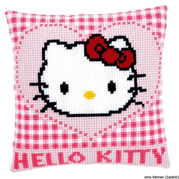 Vervaco stamped cross stitch kit cushion Hello Kitty in a heart, DIY