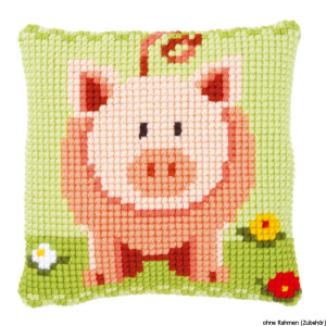 Vervaco stamped cross stitch kit cushion Sweet little...