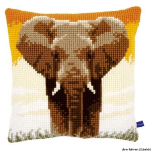 Vervaco stamped cross stitch kit cushion Elephant in the...