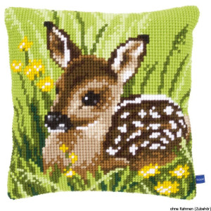 Vervaco stamped cross stitch kit cushion Little deer, DIY