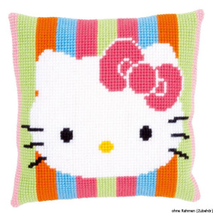 Vervaco stamped cross stitch kit cushion Hello Kitty...