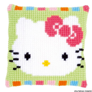 Vervaco stamped cross stitch kit cushion Hello Kitty in...