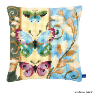 Vervaco stamped cross stitch kit cushion Deco...