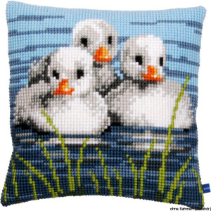 Vervaco stamped cross stitch kit cushion Ducklings in the...
