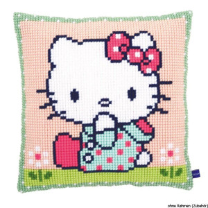 Vervaco stamped cross stitch kit cushion Hello Kitty On...