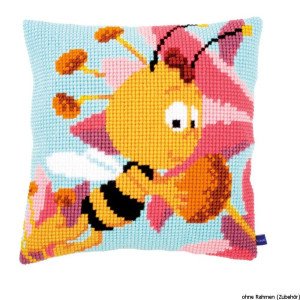 """Vervaco Cross stitch kit cushion """"Willy with pink..."""