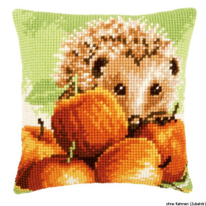 Vervaco stamped cross stitch kit cushion Hedgehog with...