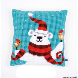 Vervaco stamped cross stitch kit cushion Happy christmas...