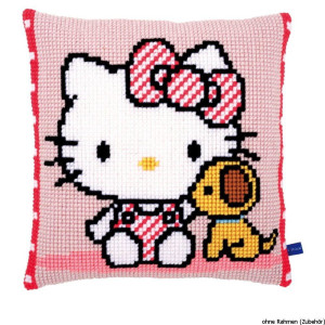 Vervaco stamped cross stitch kit cushion Hello Kitty with...