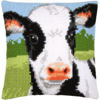 Vervaco stamped cross stitch kit cushion Cow, DIY
