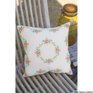"""Vervaco cushion counted stitch kit """"Garland with..."""