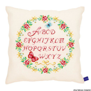 """Vervaco cushion counted stitch kit """"roses with..."""