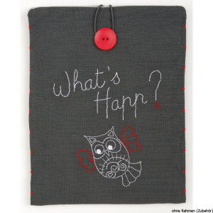 """Vervaco cross stitch kit I Pad Cover """"Whats..."""
