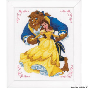Vervaco Counted cross stitch kit Disney Beauty & the...