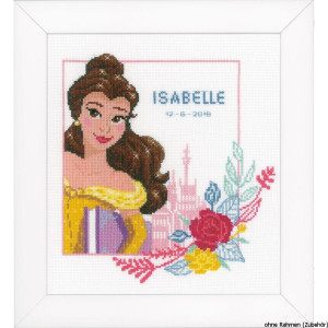 Vervaco Counted cross stitch kit Disney Enchanted beauty,...