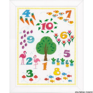 Vervaco Counted cross stitch kit Count to 10, DIY
