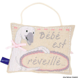 """Vervaco cross stitch kit counted """"Baby sleeping-is..."""