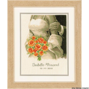 Vervaco Counted cross stitch kit Wedding bouquet, DIY
