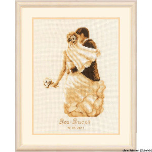 Vervaco Counted cross stitch kit Newlyweds, DIY