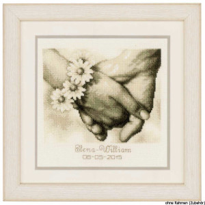 Vervaco Counted cross stitch kit Just married, DIY