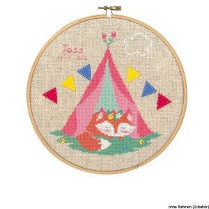 """Vervaco cross stitch kit with Hoop counted """"Fox in..."""