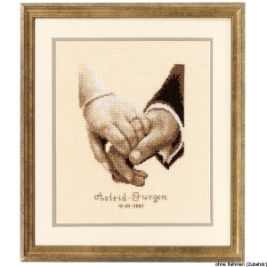 Vervaco Counted cross stitch kit Wedding happiness, DIY
