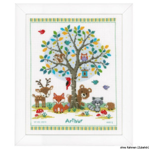 Vervaco Counted cross stitch kit In the woods, DIY