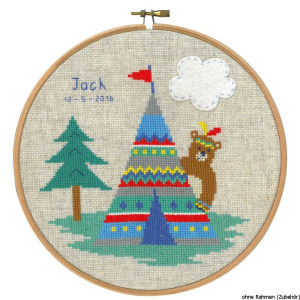 Vervaco cross stitch kit counted with embroidery frame...