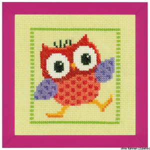 """Vervaco cross stitch kit counted """"Red Owl"""", DIY"""