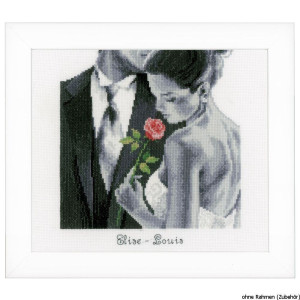 Vervaco Counted cross stitch kit Rose of love, DIY