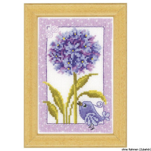 """Vervaco miniature stitch embroidery kit """"Blue in..."""