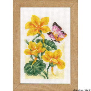 Vervaco Miniature counted cross stitch kit Butterflies...