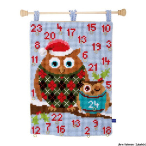 """Vervaco cross stitch wall hanging kit """"advent..."""