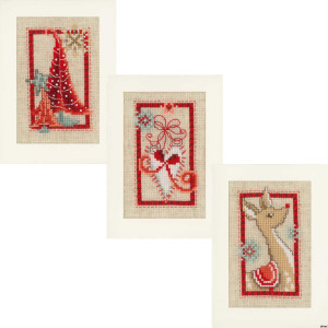 Vervaco Greeting card, counted stitch kit Christmas...