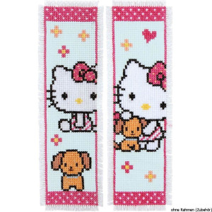 Vervaco Bookmark counted cross stitch kit Hello Kitty...
